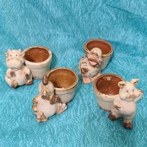 VTG Farm Animal Mini Planting Pots